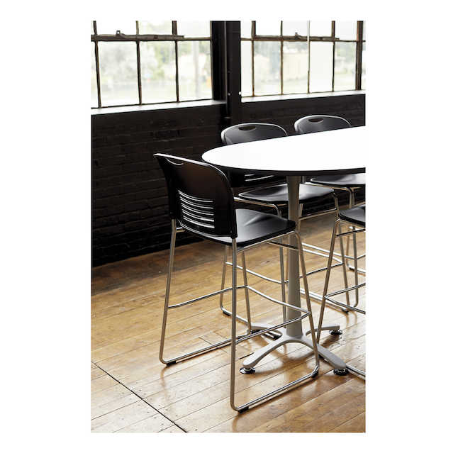 safco vy sled base bistro seating