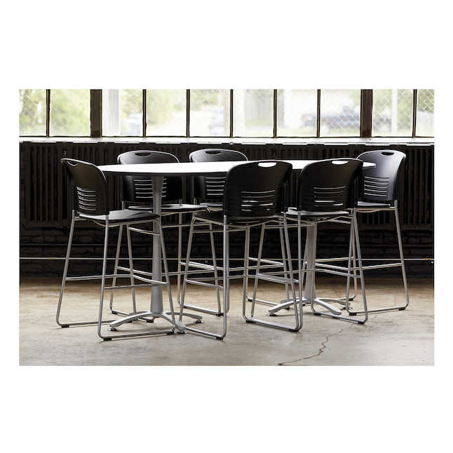 safco vy plastic bistro height seating