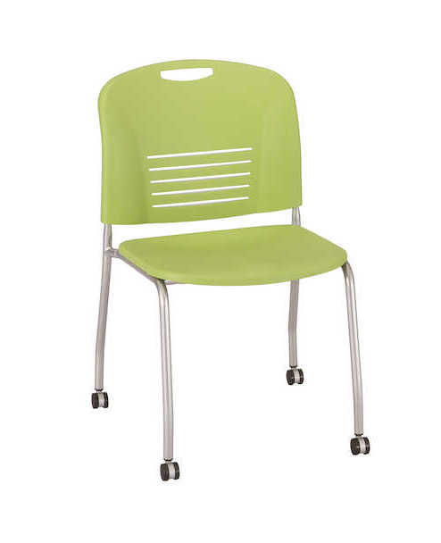 safco vy mobile stack chair in green