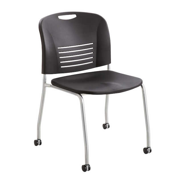 safco vy mobile stack chair in black