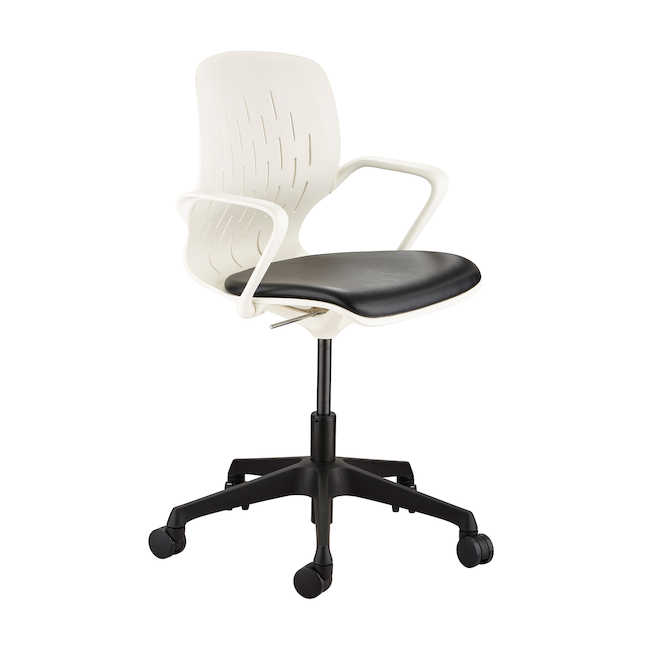 safco shell desk chair in white