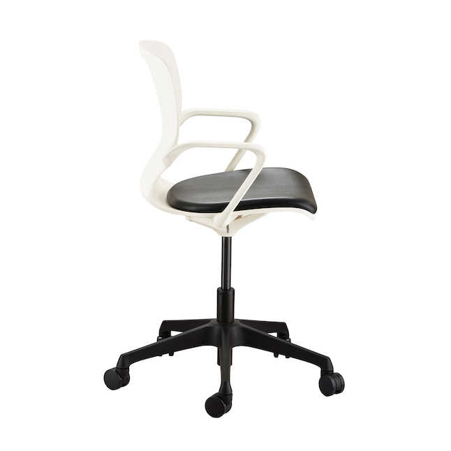 shell desk chair side view