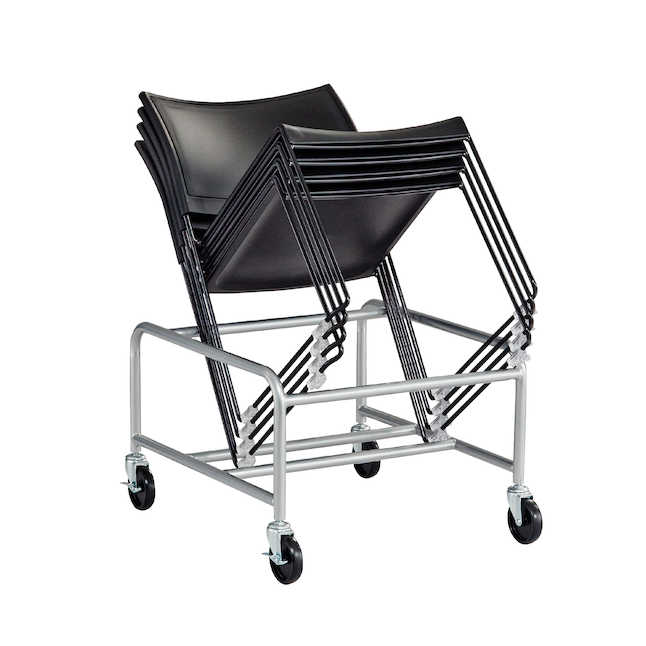 safco currant chairs on optional 4190sl cart
