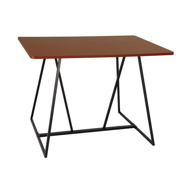 safco oasis standing height teaming table in cherry