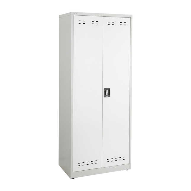 """safco 72""""h steel storage cabinet in gray"""