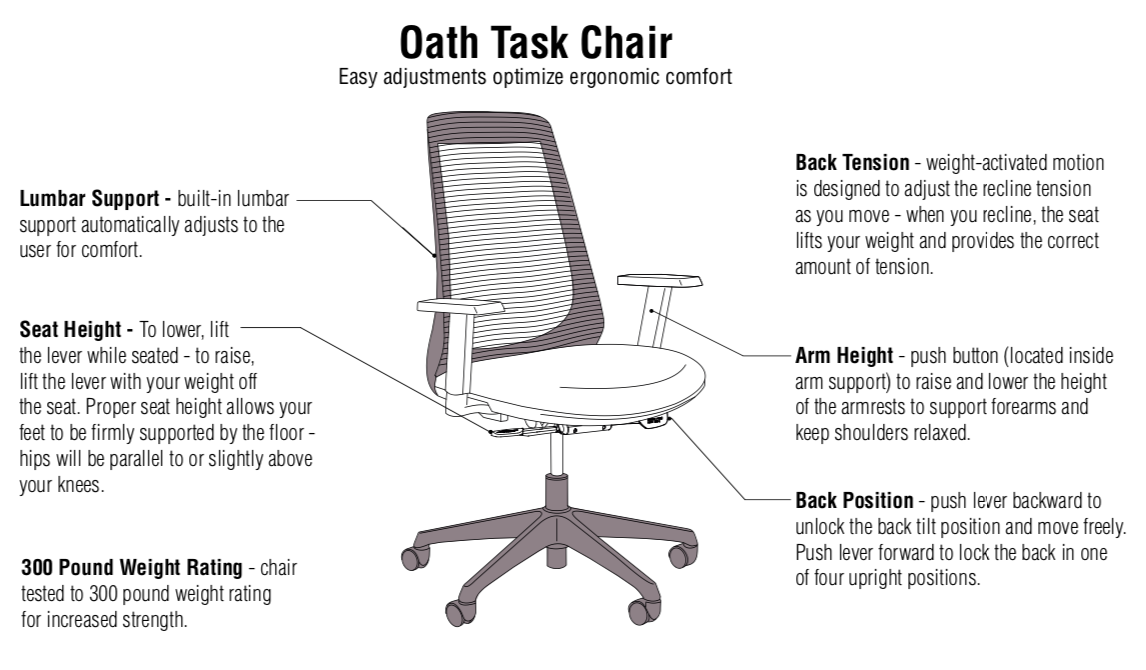 oath chair features
