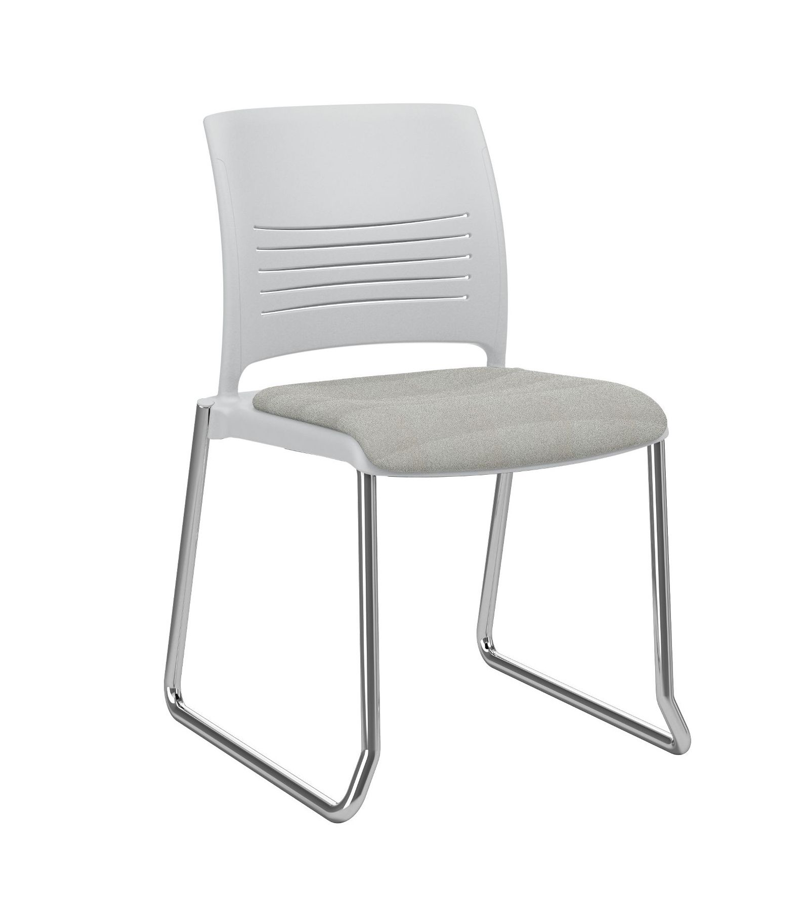 ki strive sled base stacking chair with upholstered seat ssnau