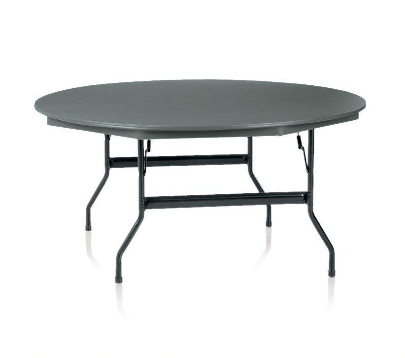 ki duralite round folding table