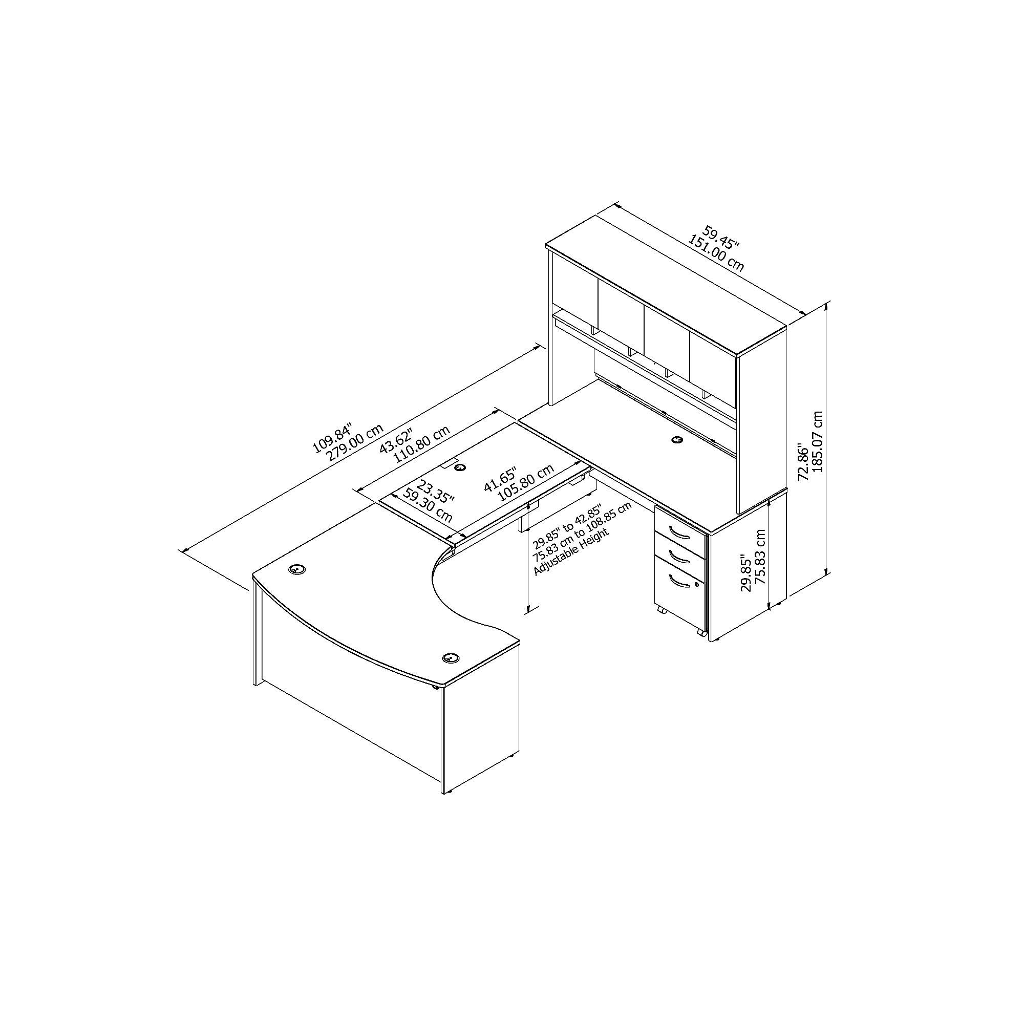 bbf src122 u shaped desk dimensions