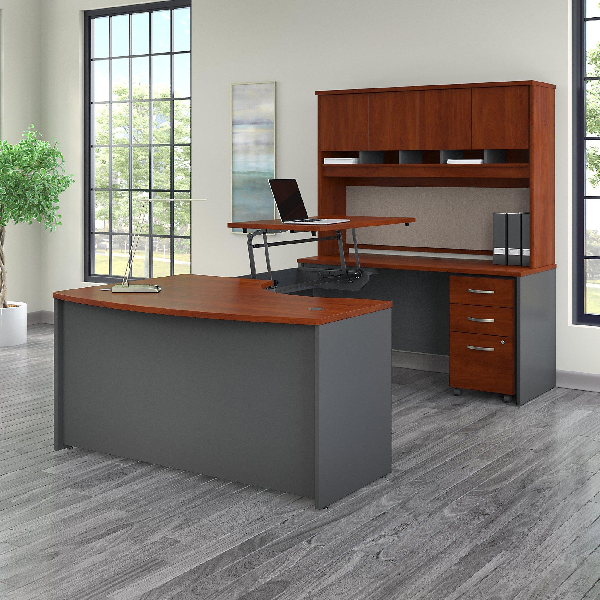 bush business furniture src122 ergonomic u desk