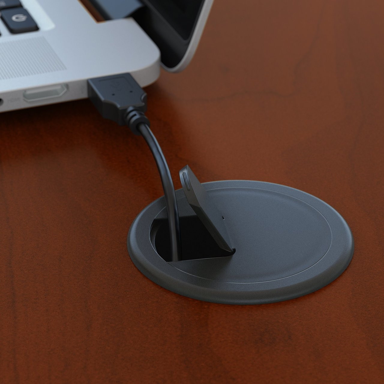 bush business furniture series c desk grommet for wire management