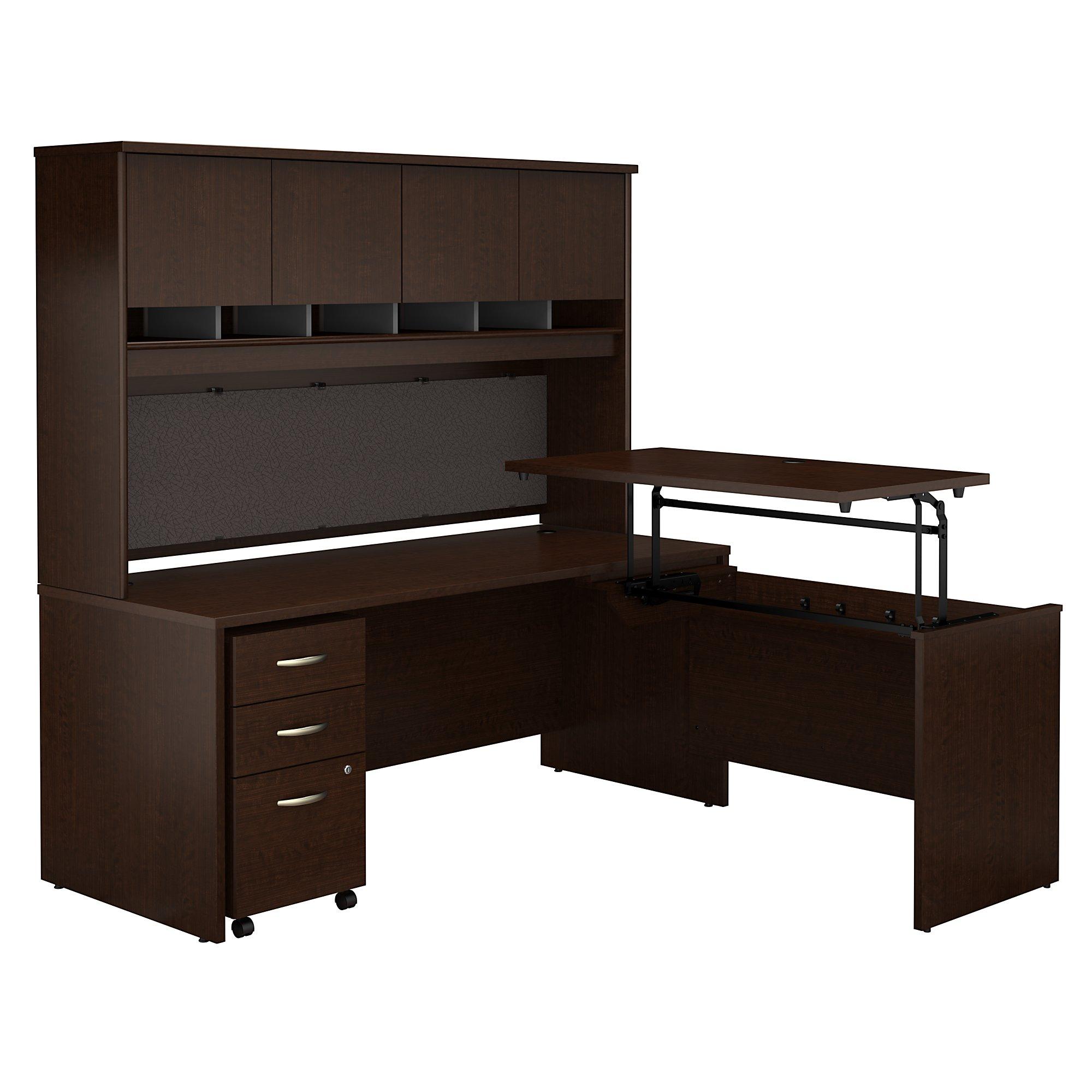series c l-desk src124 with mocha cherry finish