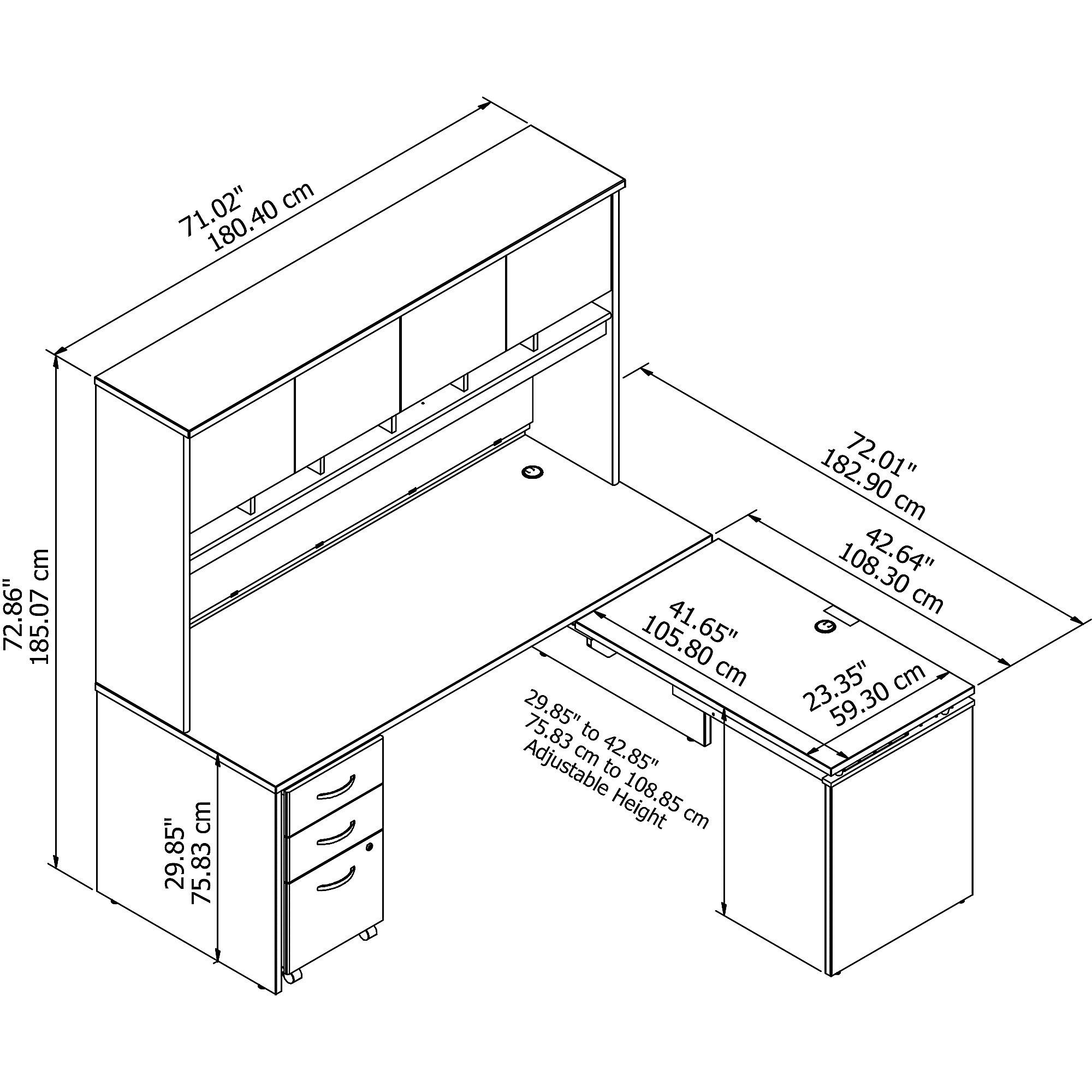 bbf series c l desk src1224 dimensions