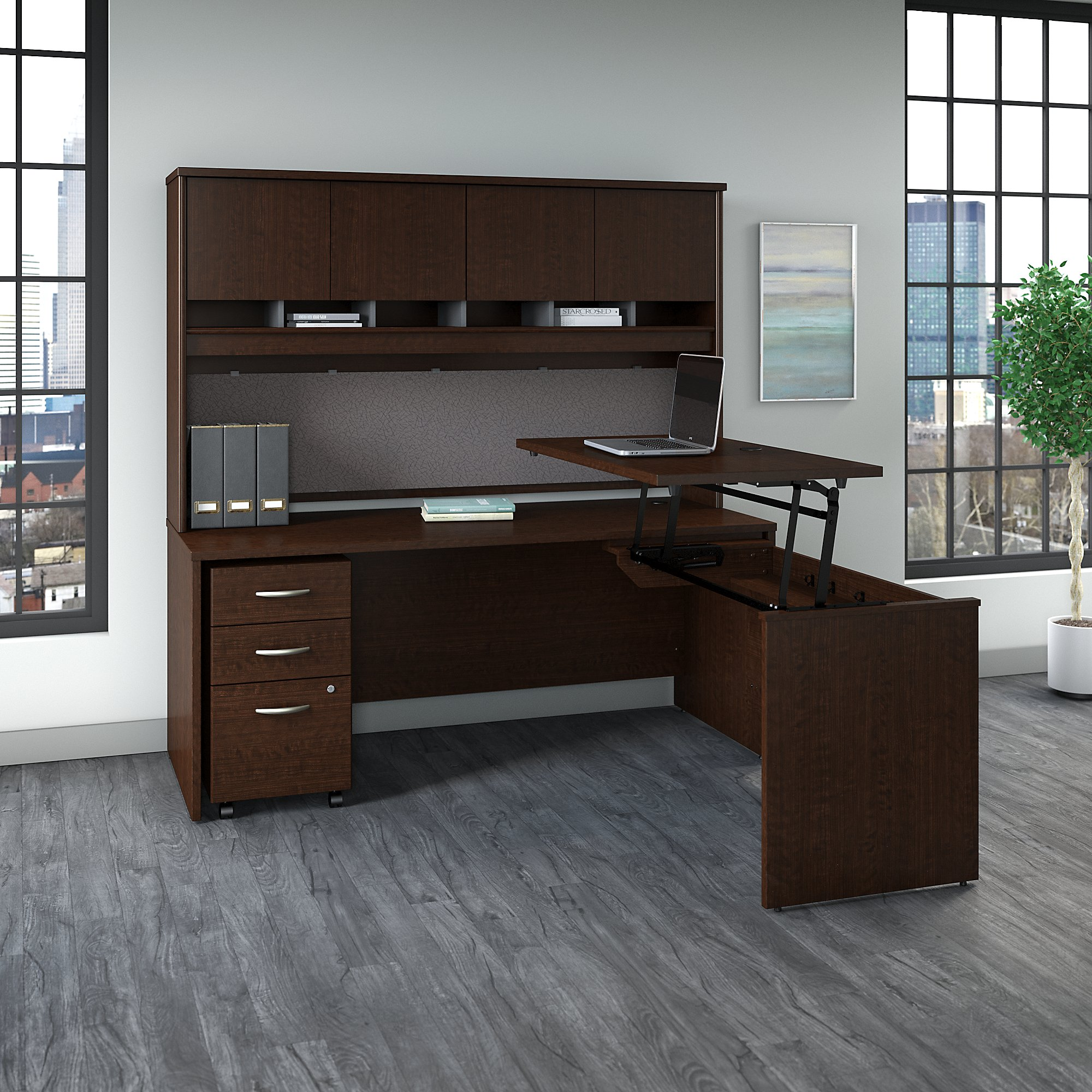 src124 bbf ergonomic l desk