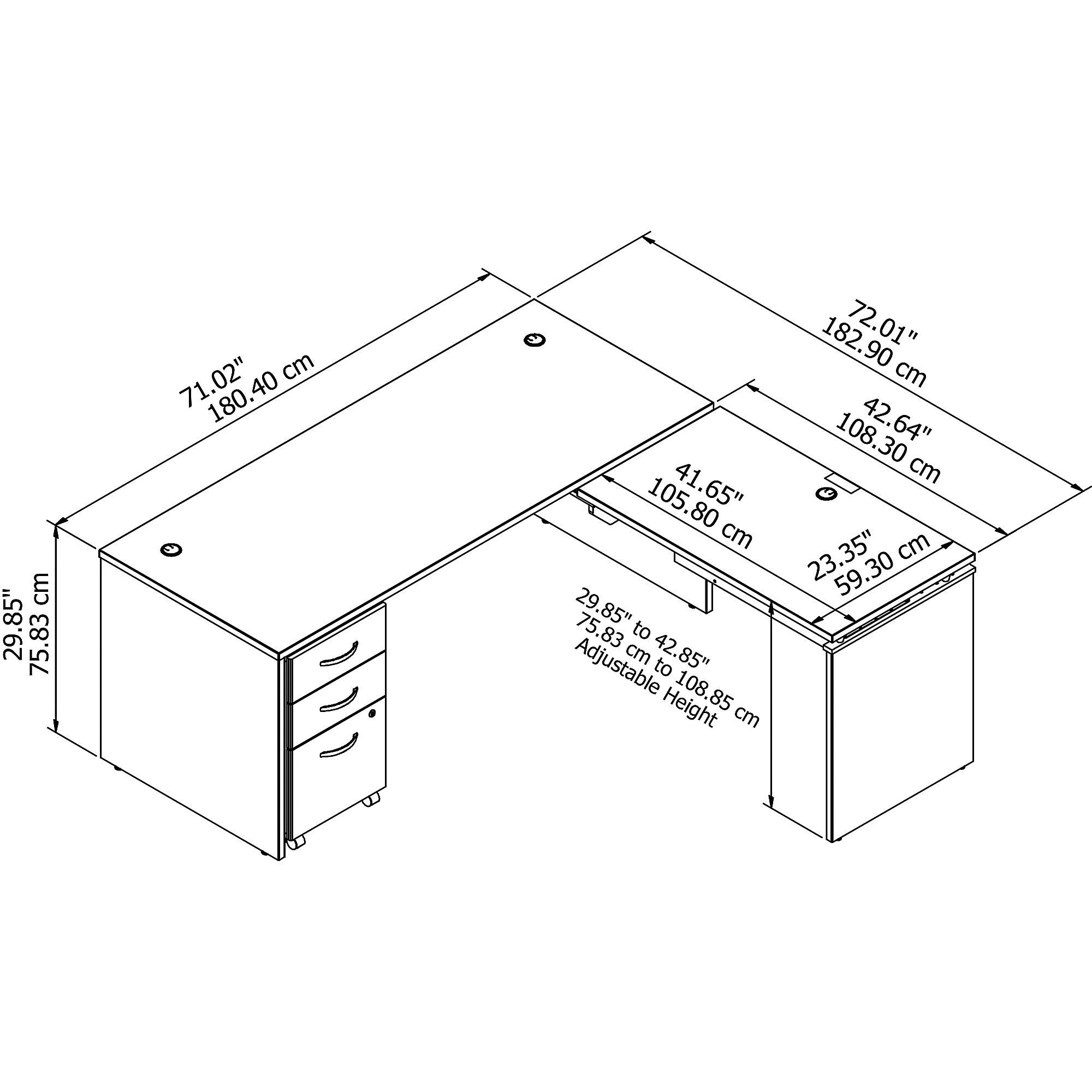 bbf src125 desk dimensions