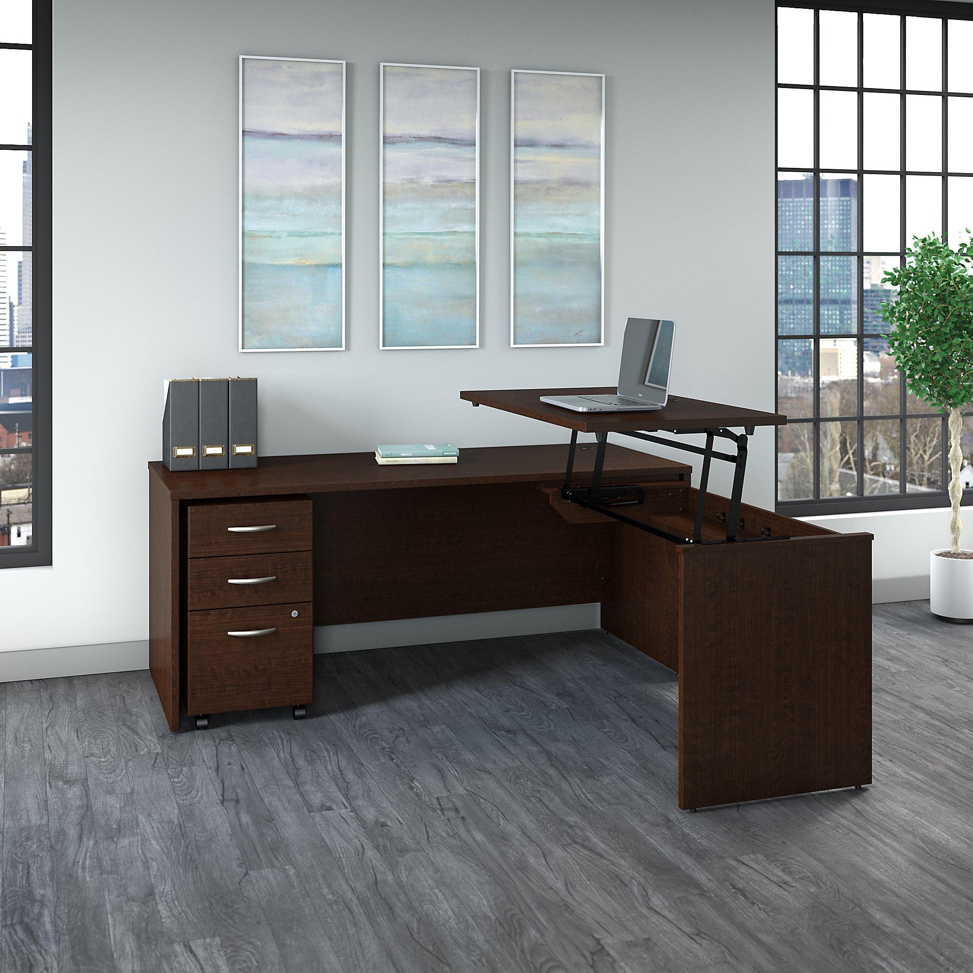 bush business furniture src125 ergonomic l desk