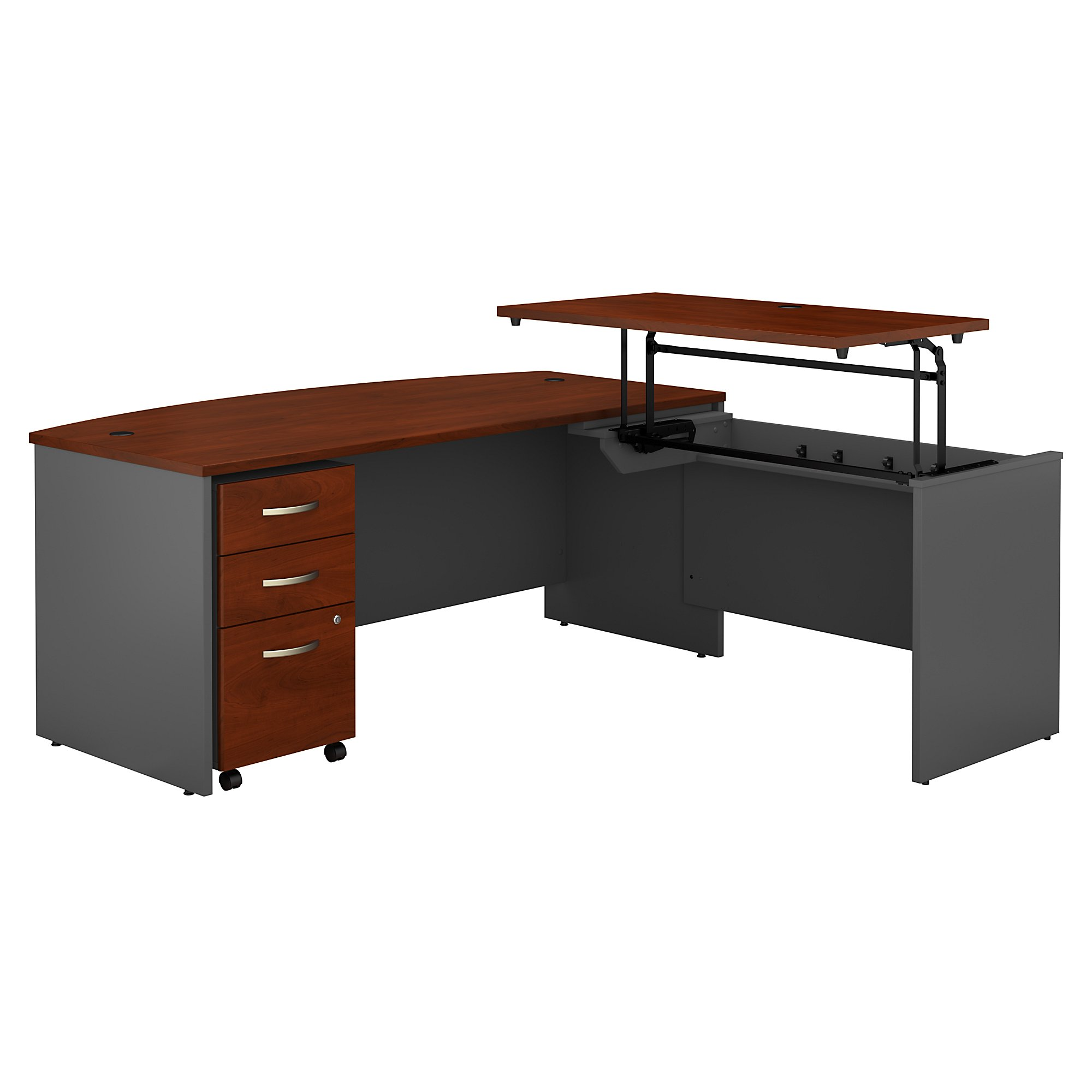 hansen cherry series c sit to stand l desk