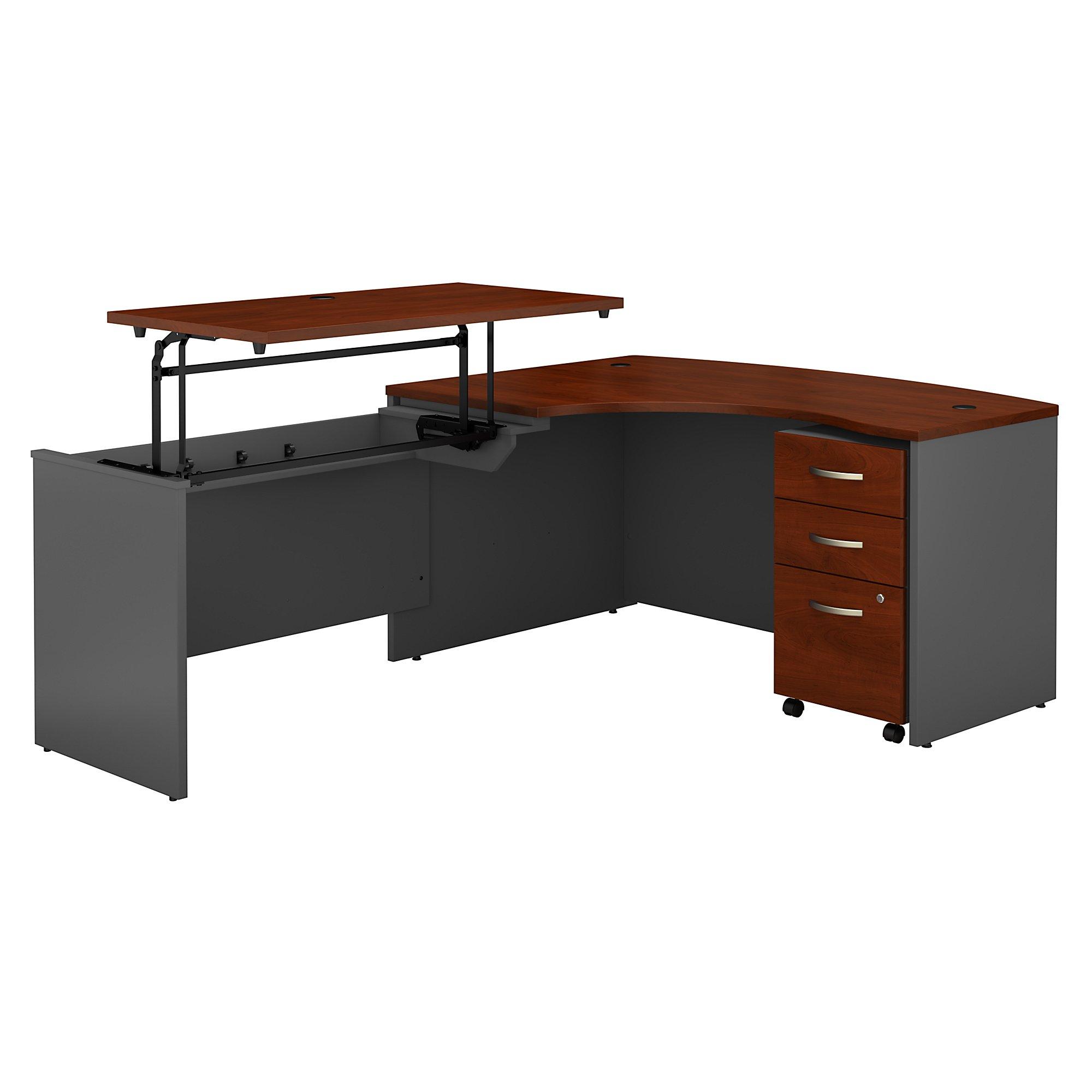 hansen cherry series c l desk with sit to stand return