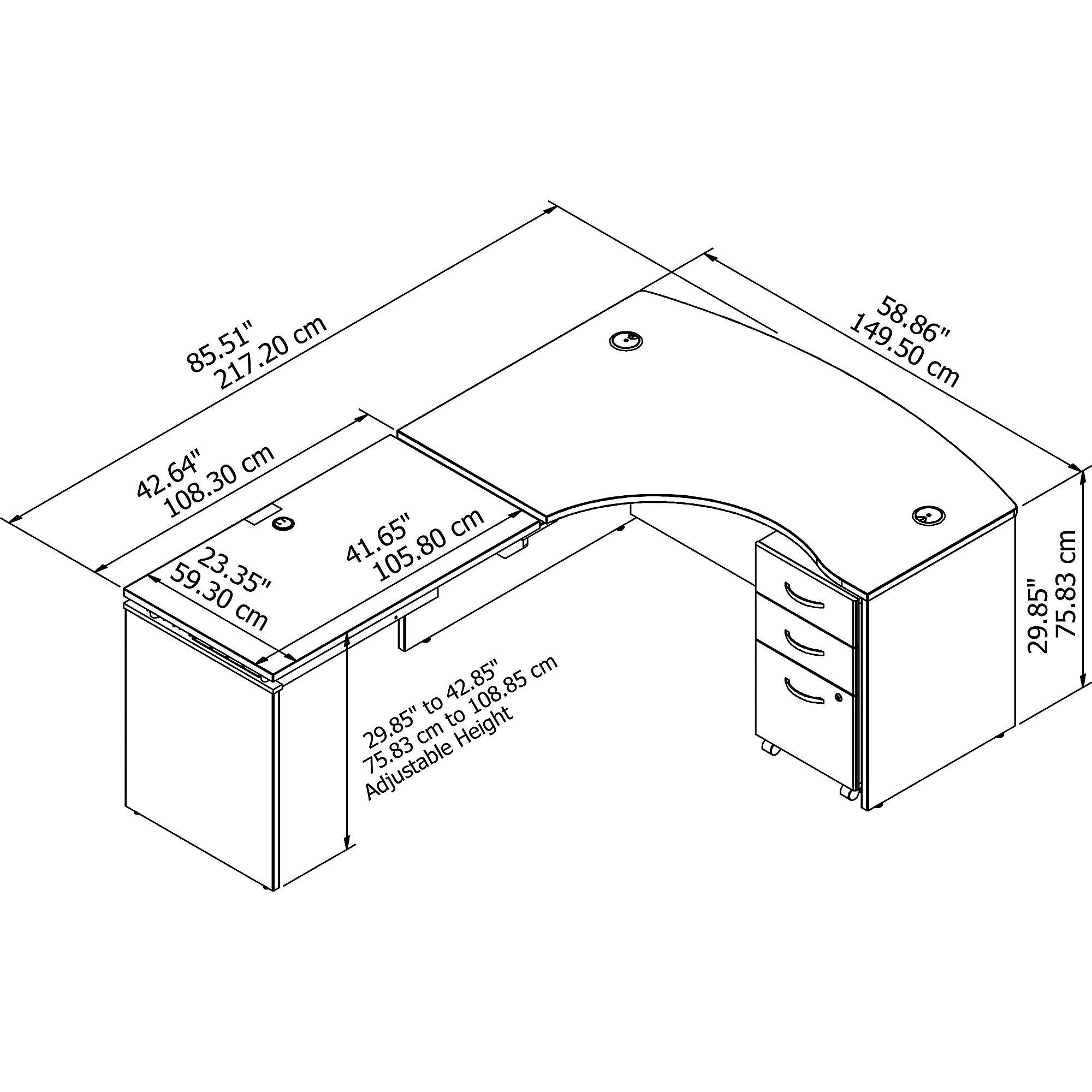 bbf model src127 desk dimensions