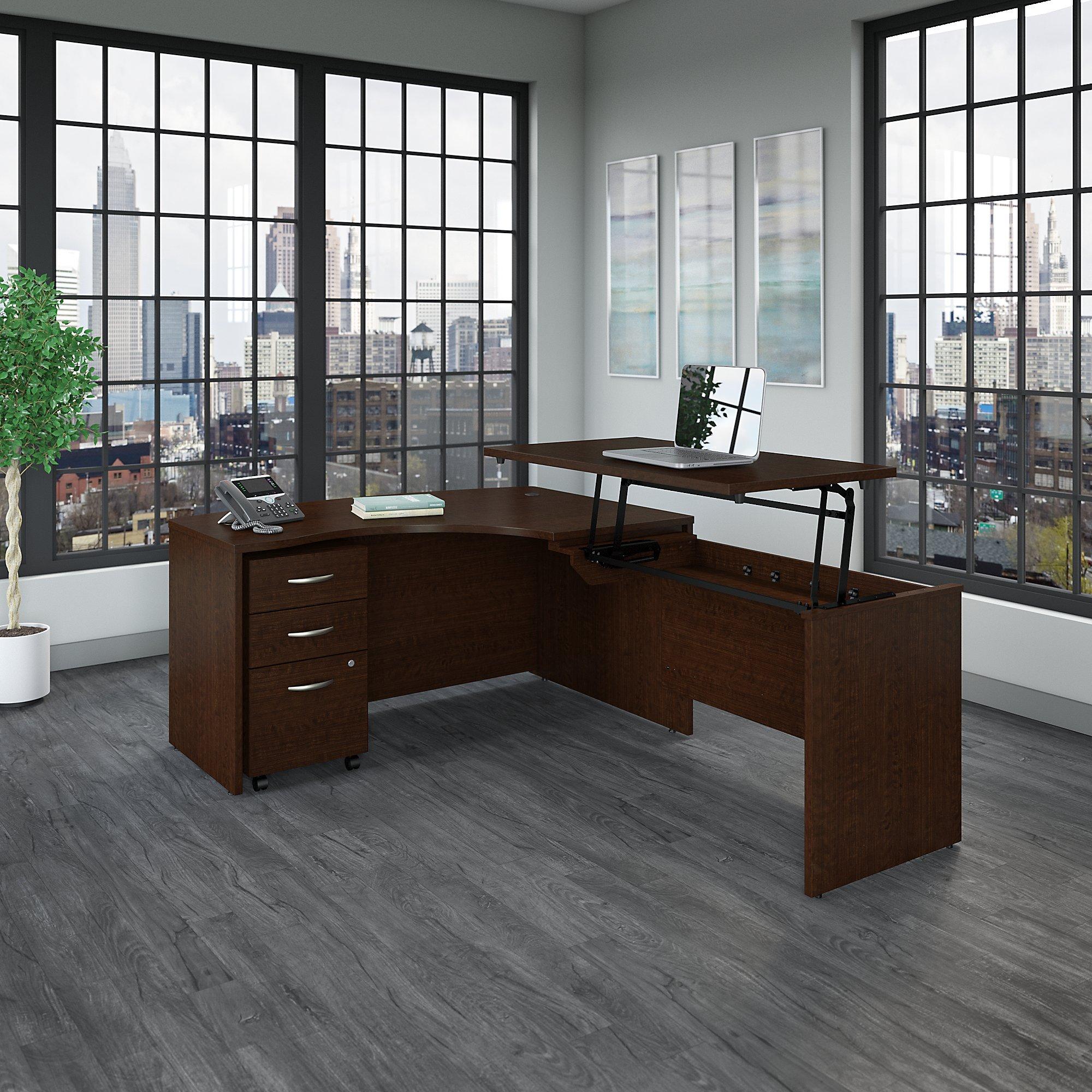 src128 series c adjustable l shaped desk