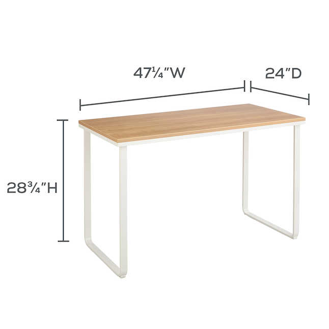 safco table desk dimensions