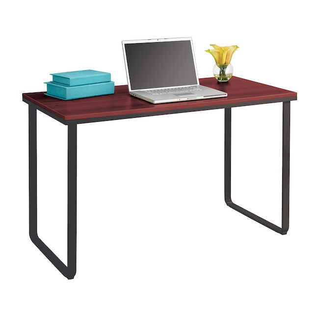 safco table desk with cherry laminate top