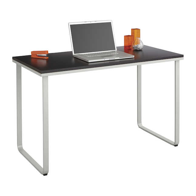 safco table desk with black laminate top