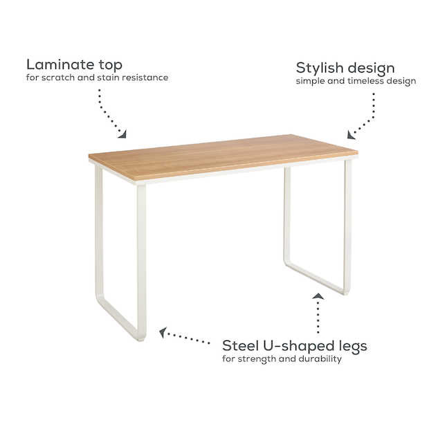 safco table desk features