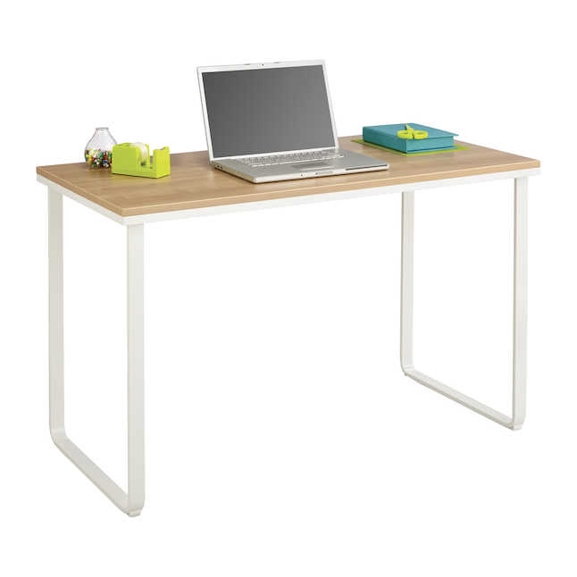 safco table desk with beech laminate top