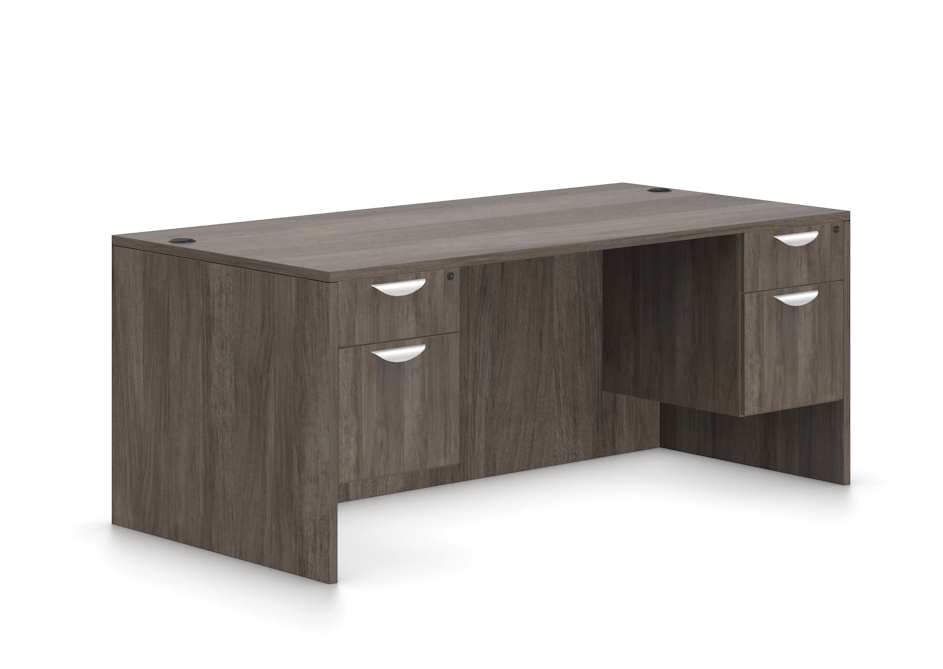 offices to go sl-r desk with artisan grey finish