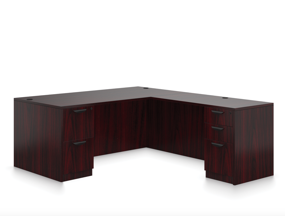 offices to go l-desk sl-s in mahogany
