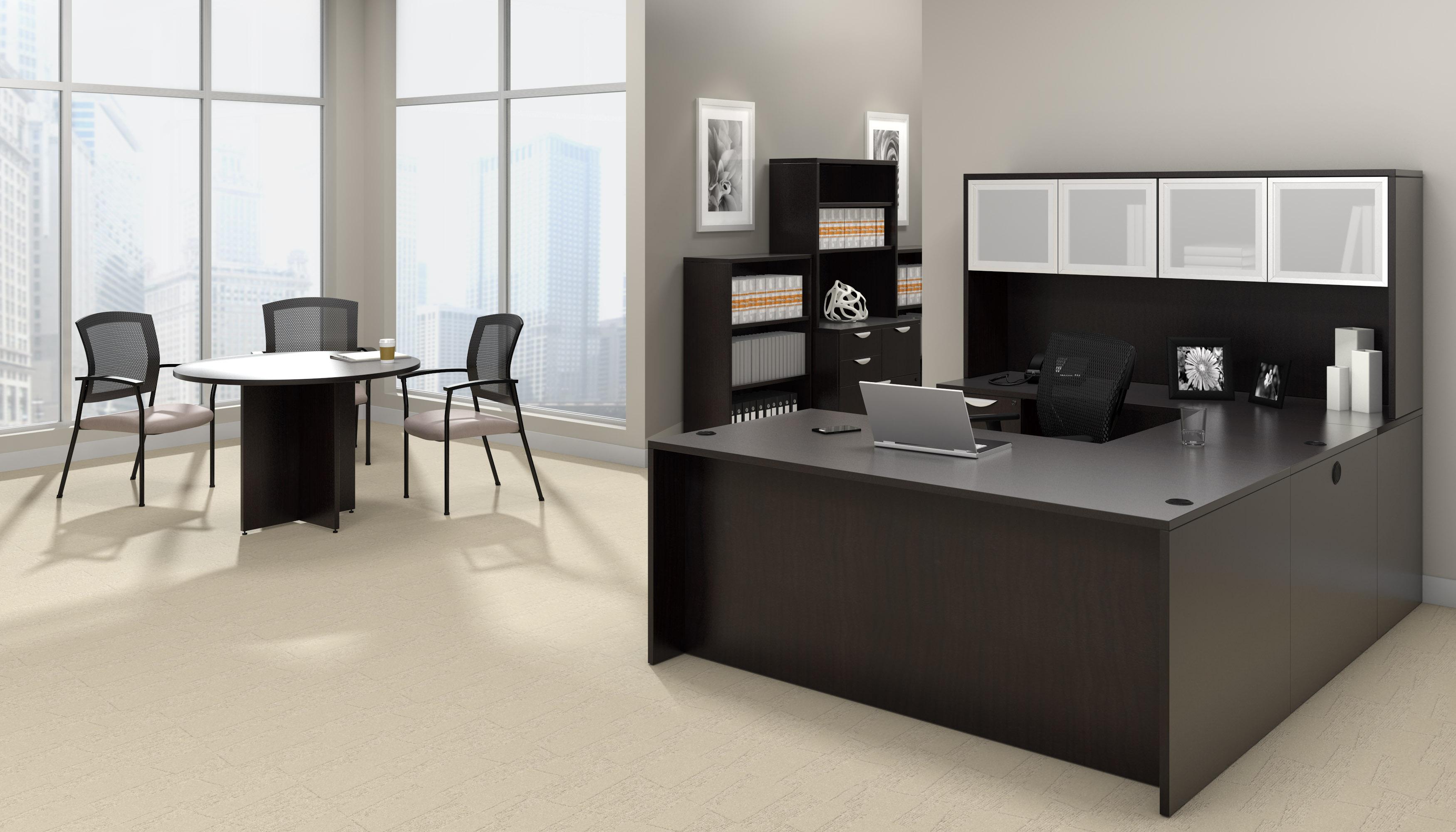 offices to go superior laminate espresso executive suite