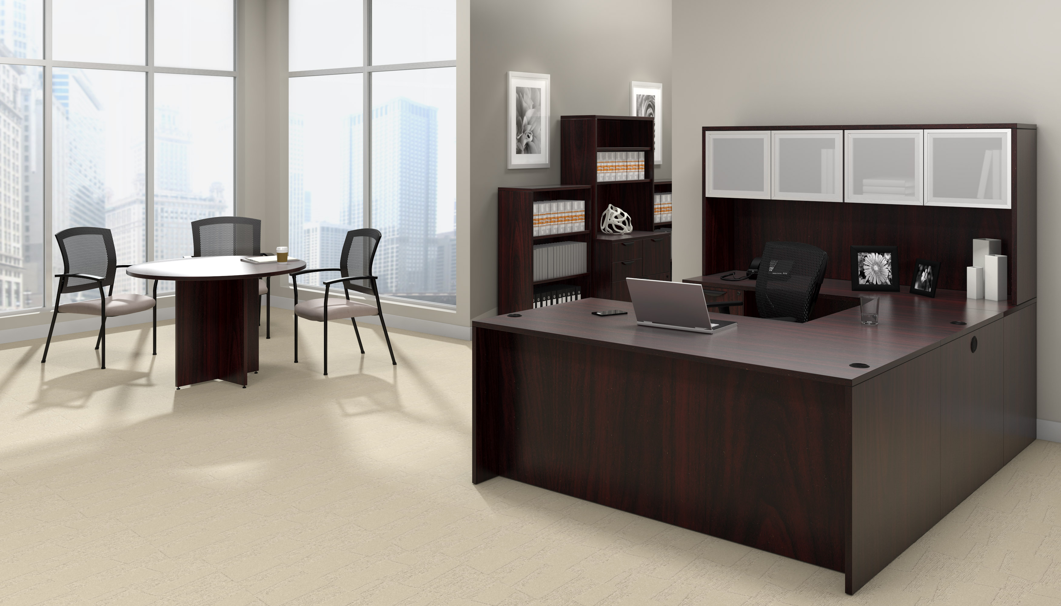 offices to go superior laminate mahogany executive suite