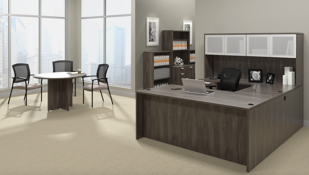 offices to go superior laminate gray executive suite