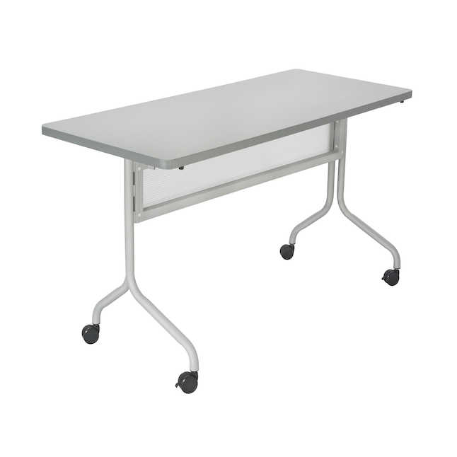 safco 48 x 24 impromptu flip top table with gray finish