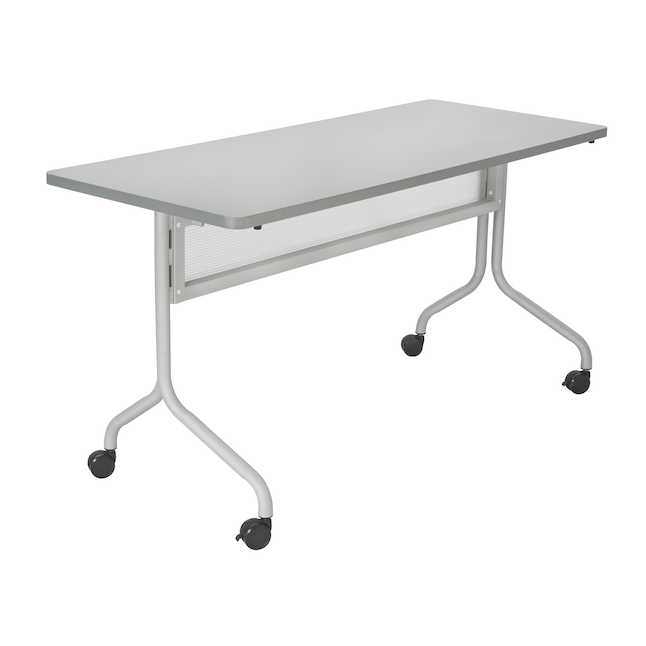 gray impromptu 60 x 24 training table