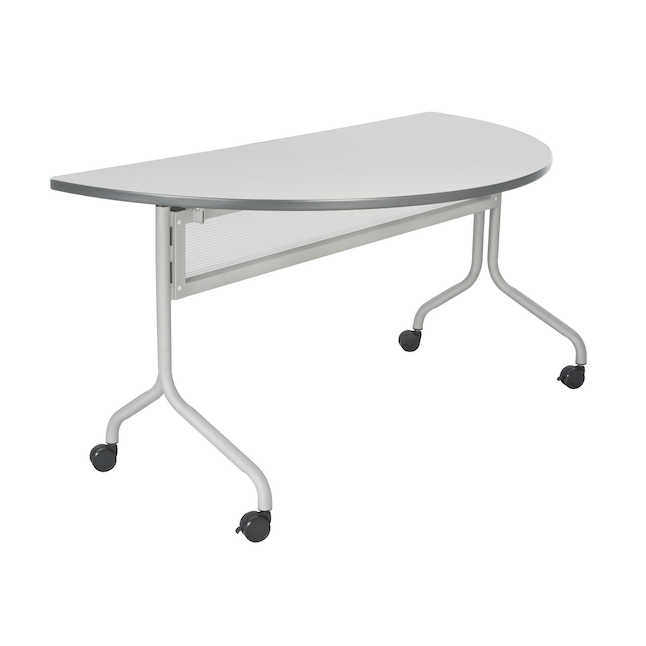 safco impromptu half round table in gray