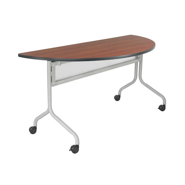 safco impromptu half round table in cherry