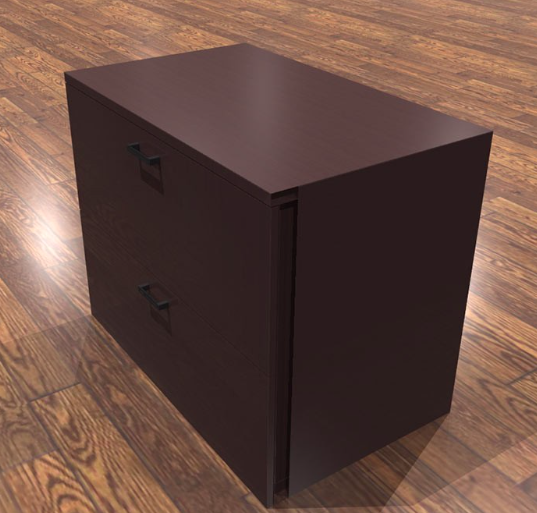 amber 2 drawer lateral file cabinet in mahogany