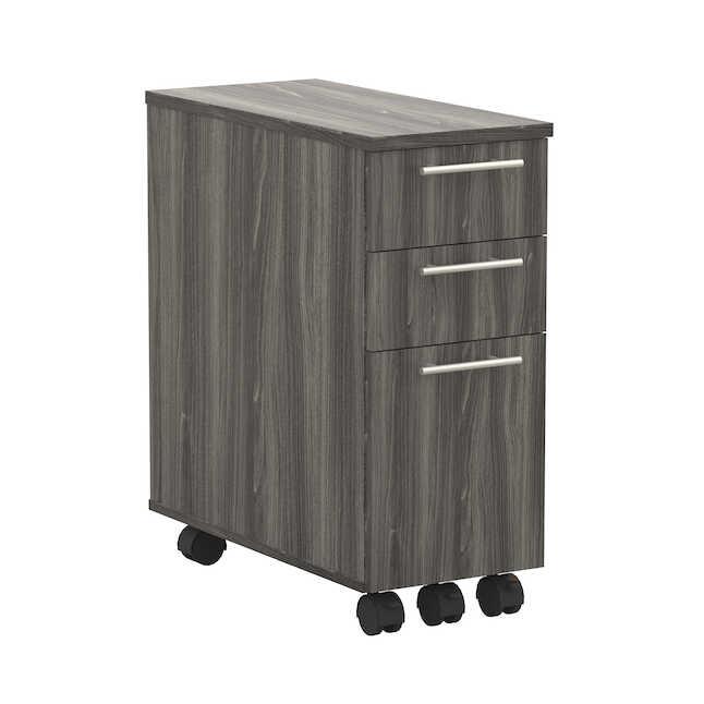 mayline absp skinny pedestal in gray steel