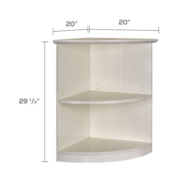 medina quarter round bookcase dimensions