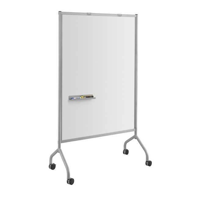 "safco impromptu 42"" x 72"" whiteboard in gray"