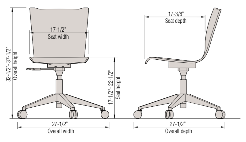 apply chair dimensions