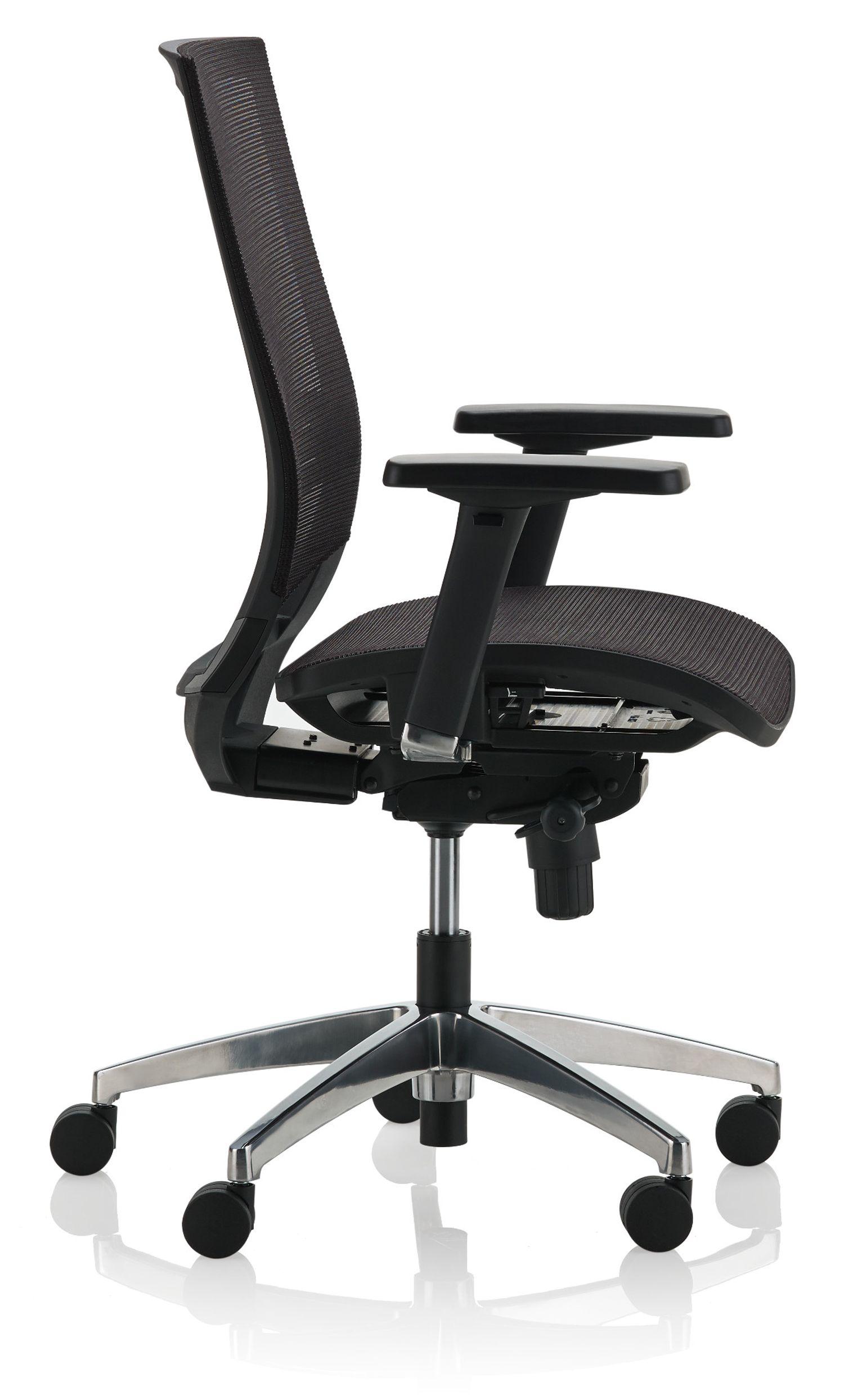 ki sift mesh back task chair side view