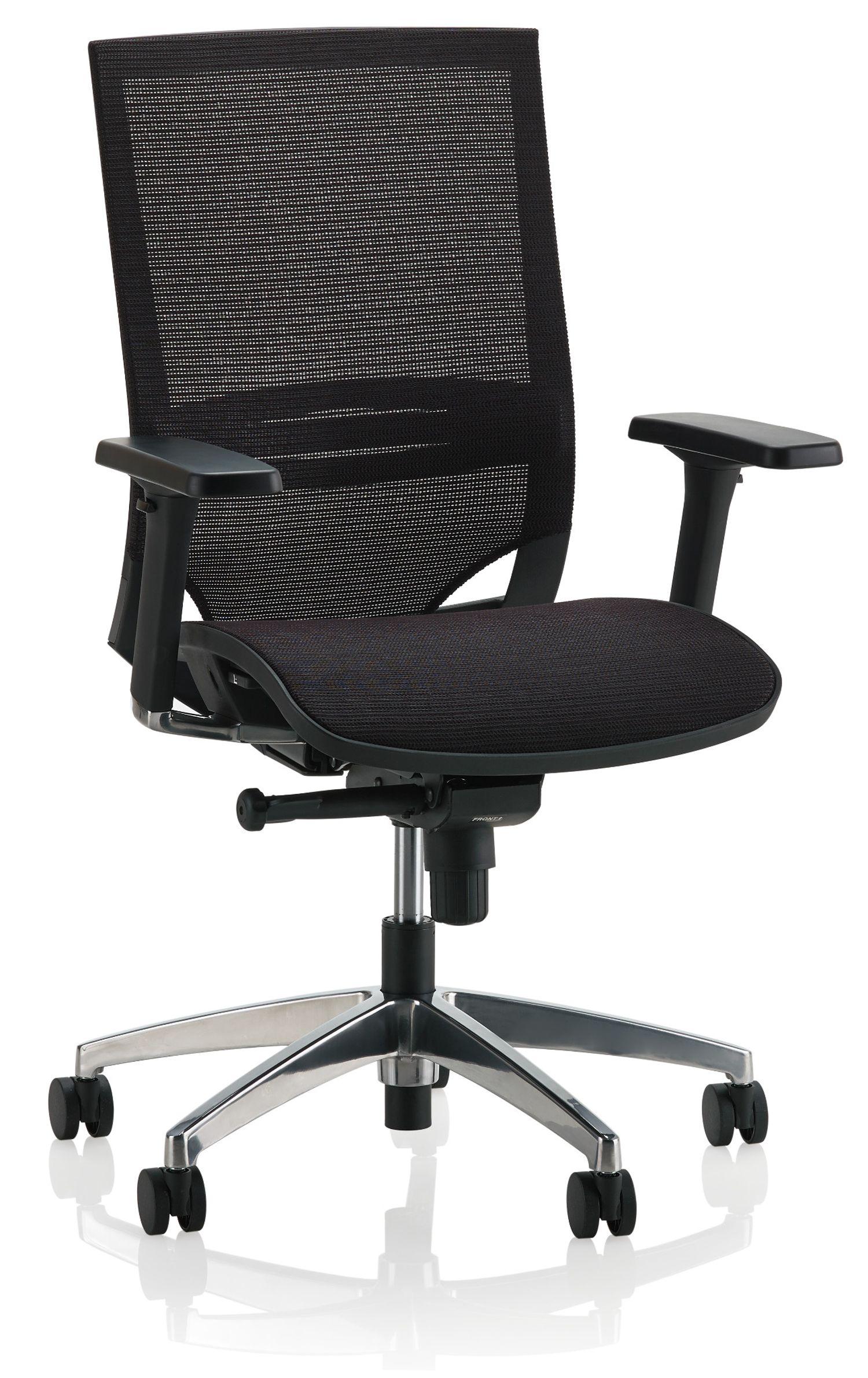 ki sift mesh back task chair angled view
