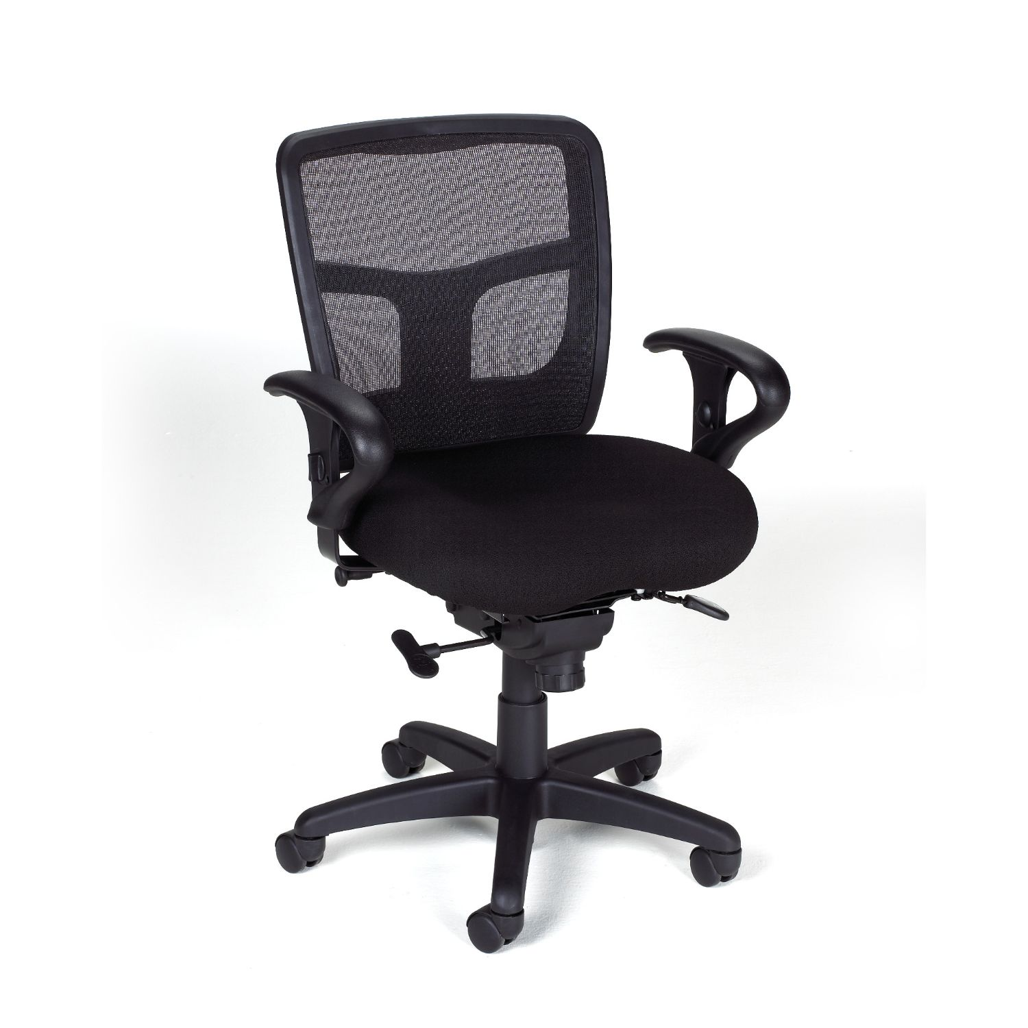 impress ultra mid back chair with adjustable loop arms