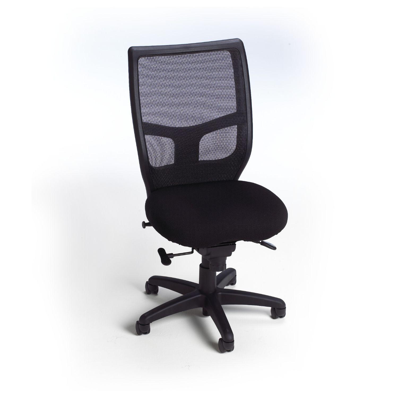 impress ultra armless high back mesh chair