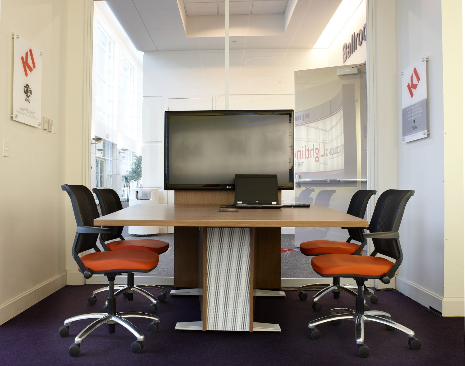 torsion air chairs in multi-media space