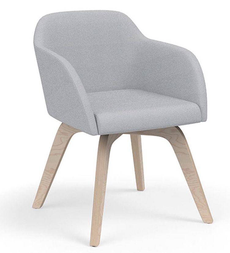 calida wood leg lounge chair