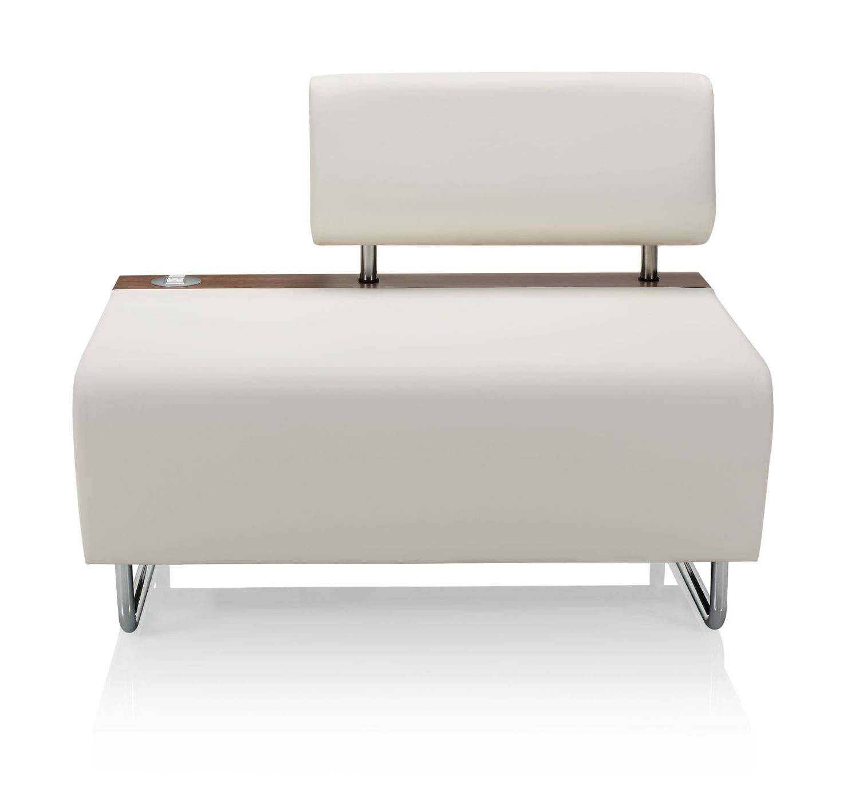 ki hub modular lounge chair front view